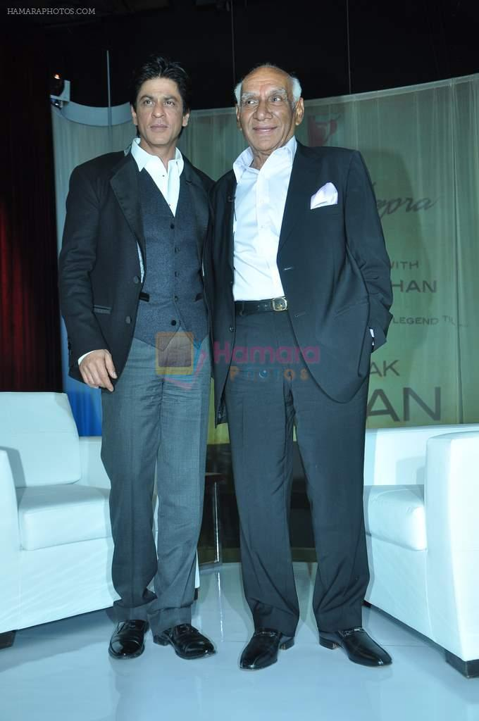 Shahrukh Khan, Yash Chopra at yash Chopra's birthday in Yashraj Studio on 27th Sept 2012