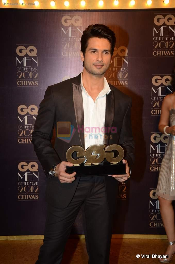 Shahid Kapoor at GQ Men of the Year 2012 in Mumbai on 30th Sept 2012