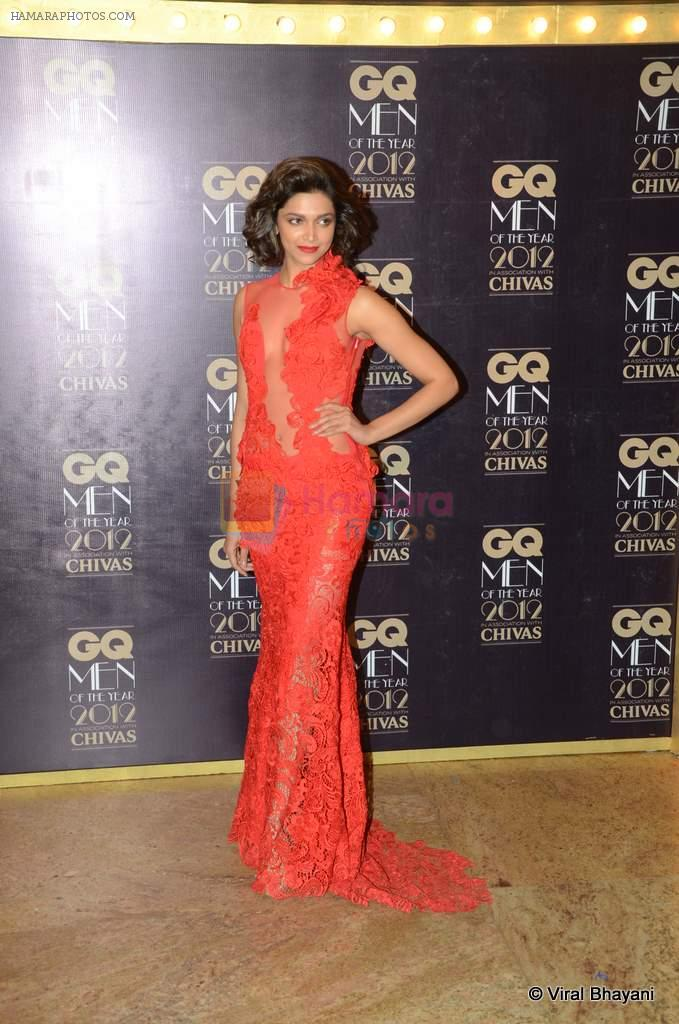 Deepika Padukone at GQ Men of the Year 2012 in Mumbai on 30th Sept 2012