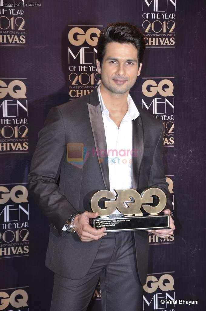 Shahid Kapoor at GQ Men of the Year 2012 in Mumbai on 30th Sept 2012,1