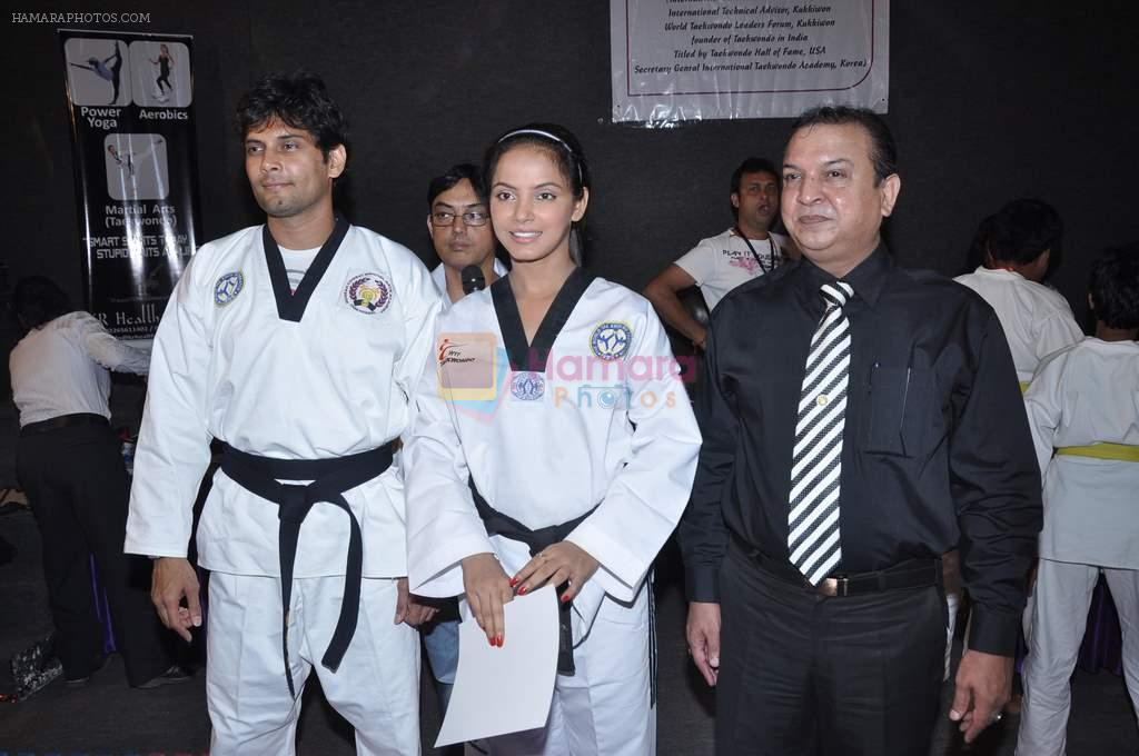 Neetu Chandra get Taekwondo Second Dan Black Belt at The Taekwondo Challenge 2012 in Once More Studio, Opp. World Gym, Goregaon on 30th Sept 2012,1