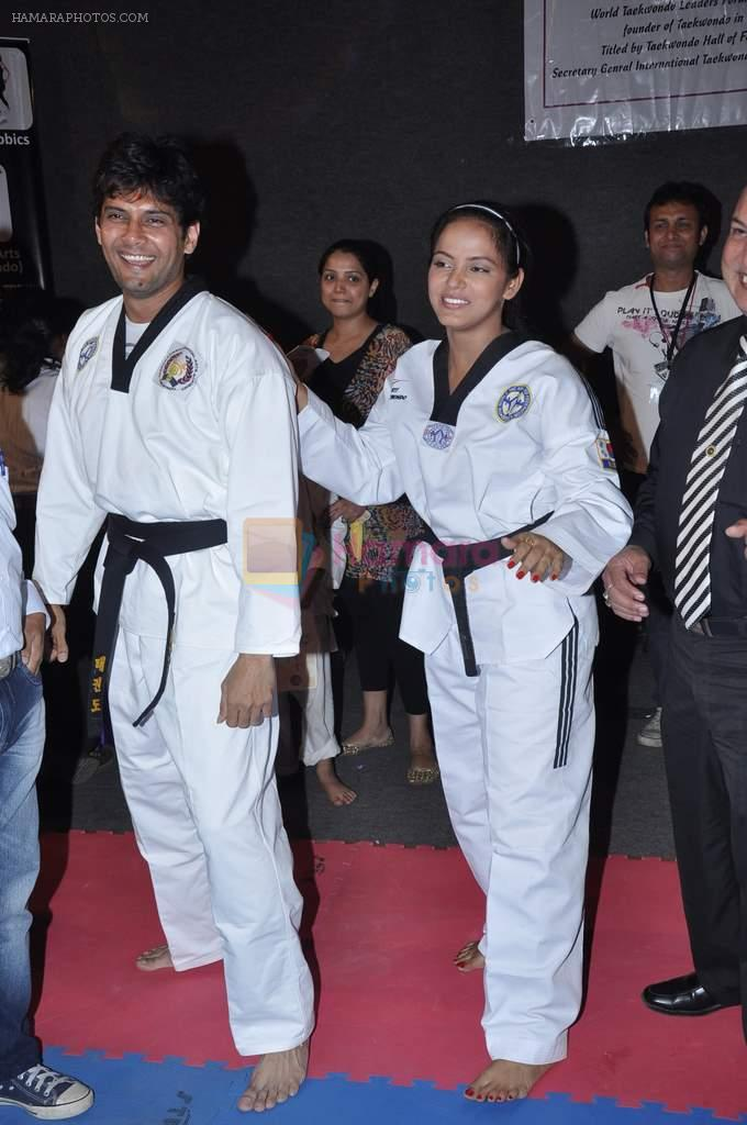 Neetu Chandra get Taekwondo Second Dan Black Belt at The Taekwondo Challenge � 2012 in Once More Studio, Opp. World Gym, Goregaon on 30th Sept 2012