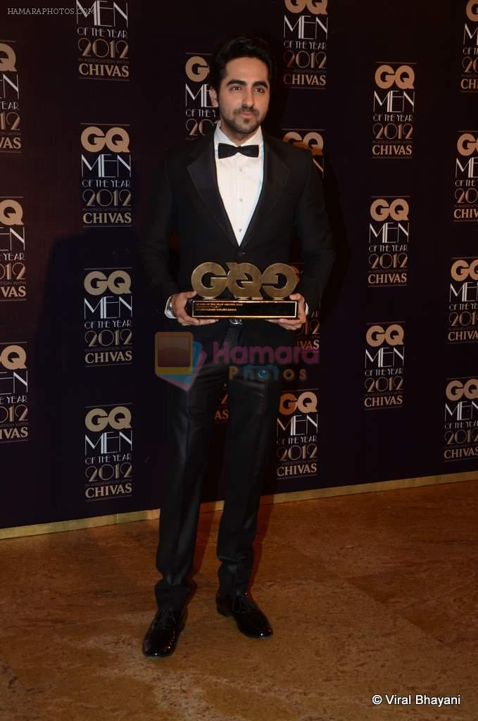 Ayushman Khurana at GQ Men of the Year 2012 in Mumbai on 30th Sept 2012