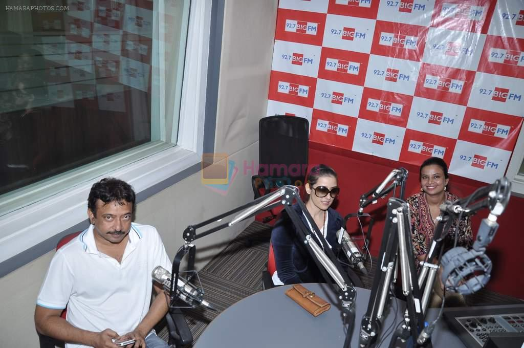 Manisha Koirala, Ram Gopal Varma at Big FM in Mumbai on 1st Oct 2012