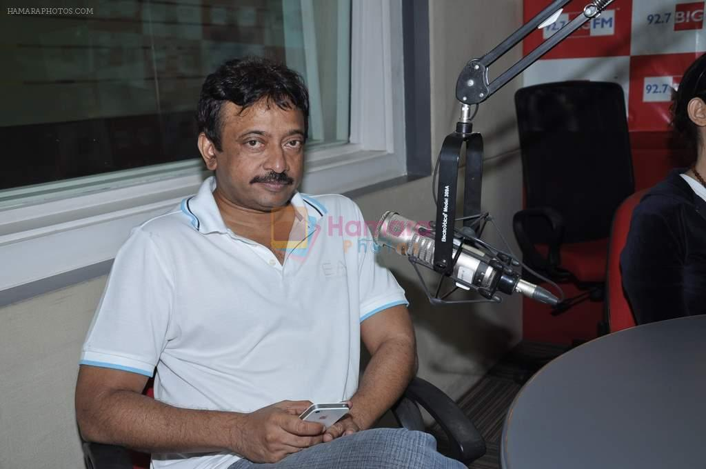 Ram Gopal Varma at Big FM in Mumbai on 1st Oct 2012
