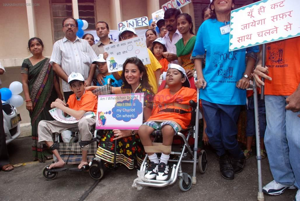 Perizaad Zorabian flags of rally for the cause of cerebral palsy in india on 2nd Oct 2012