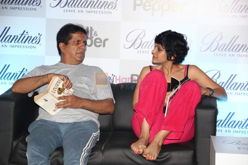 Darshan Jariwala and Mandira Bedia enacting few scenes at The Ballentine's Salt N Pepper Preview Party