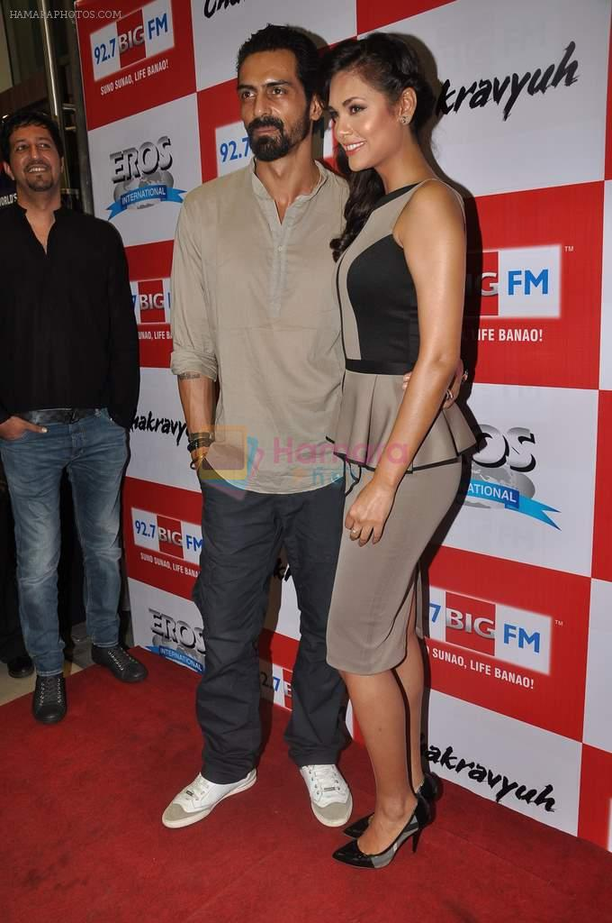 Arjun Rampal, Esha Gupta at the Audio release of Chakravyuh on 92.7 BIG FM on 3rd oct 2012