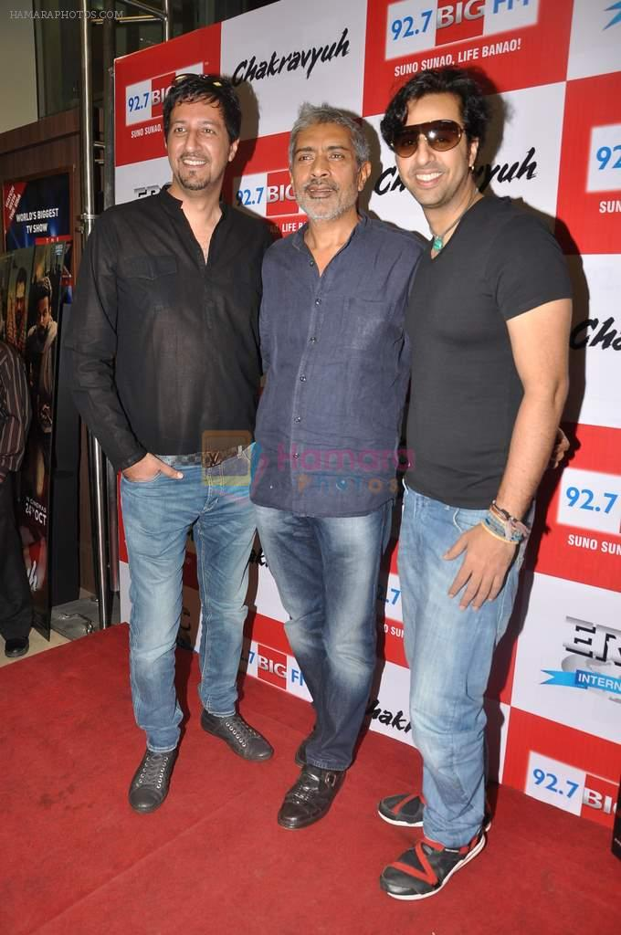 Sulaiman Merchant, Prakash Jha, Salim Merchant  at the Audio release of Chakravyuh on 92.7 BIG FM on 3rd oct 2012