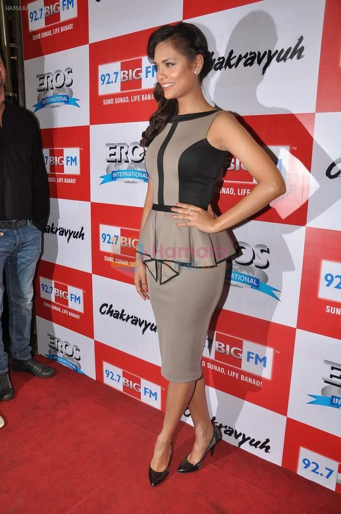 Esha Gupta at the Audio release of Chakravyuh on 92.7 BIG FM on 3rd oct 2012