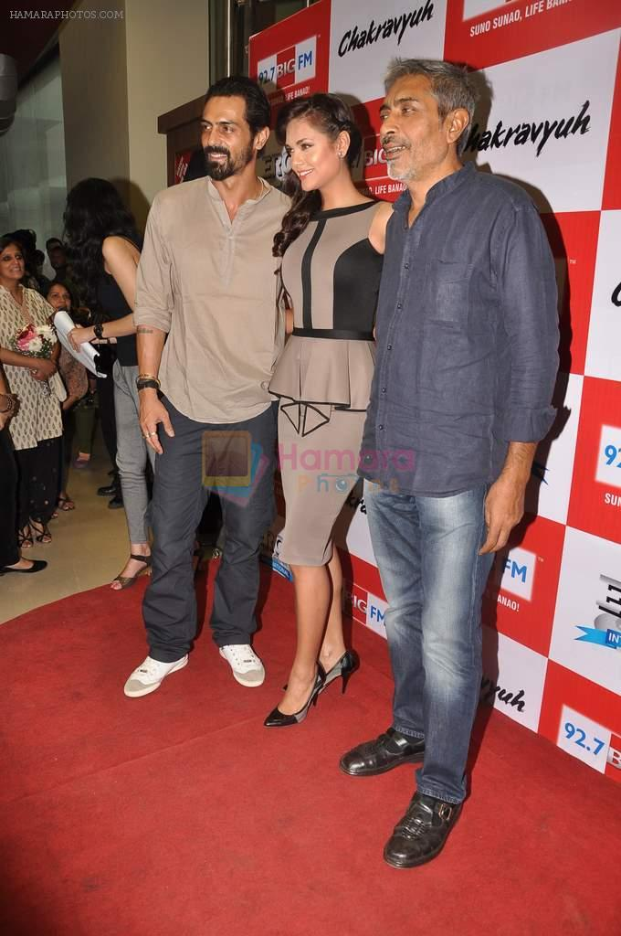 Arjun Rampal, Esha Gupta, Prakash Jha at the Audio release of Chakravyuh on 92.7 BIG FM on 3rd oct 2012