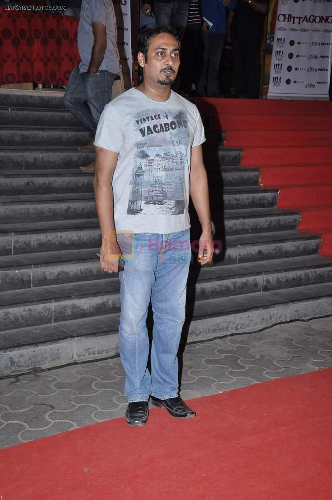 Abhinav Kashyap at the Premiere of Chittagong in Mumbai on 3rd Oct 2012