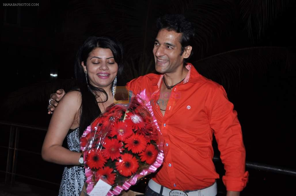 Umesh Pherwani with Shraddha Sharma at the Birthday Celebrations of Shraddha Sharma at Novotel, Juhu on 24th Oct 2012