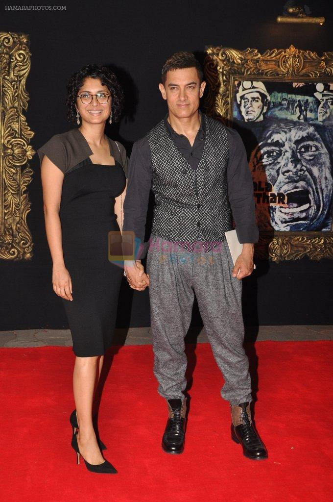 Aamir Khan, Kiran Rao at the Premiere of Jab Tak Hai Jaan in Yashraj Studio, Mumbai on 16th Nov 2012