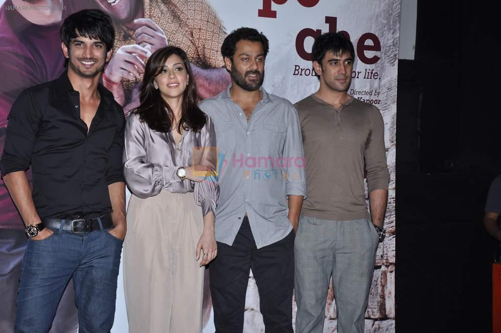 Amit Sadh, Amrita Puri, Sushant Singh Rajput, Abhishek Kapoor at kai po che trailor launch in Cinemax, Mumbai on 20th Dec 2012