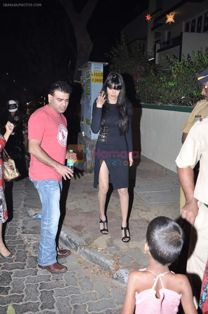 Sherlyn Chopra at Midnight Mass in Bandra, Mumbai on 24th Dec 2012