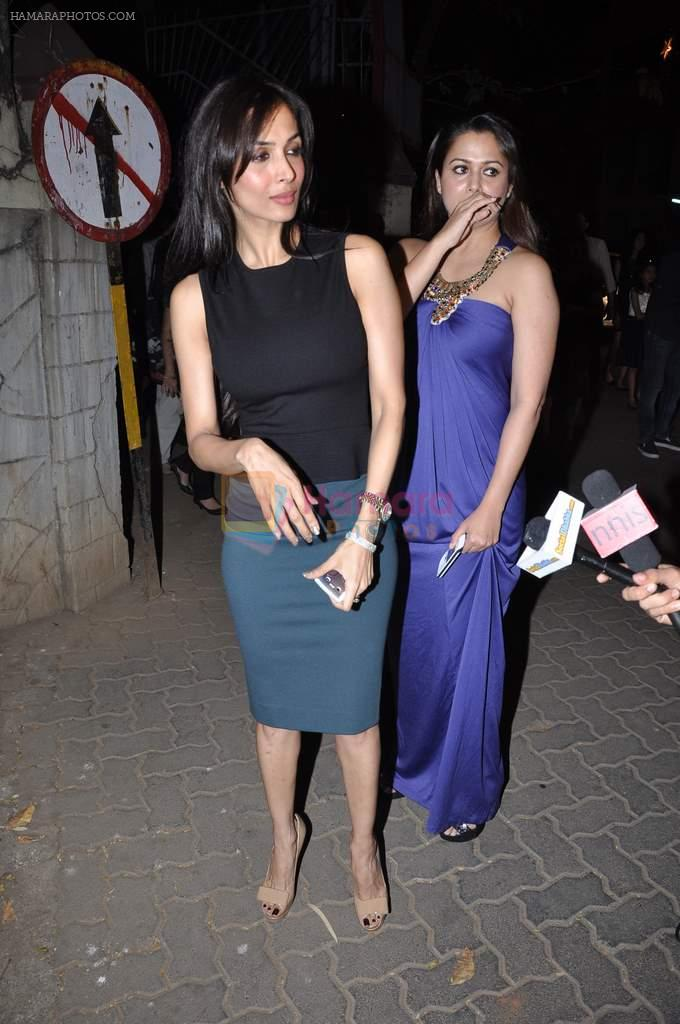 Malaika Arora Khan, Amrita Arora at Midnight Mass in Bandra, Mumbai on 24th Dec 2012