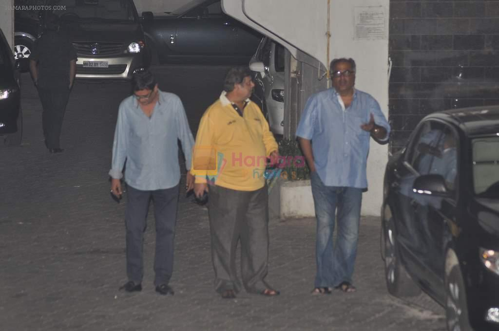Boney Kapoor, David Dhawan at Salman's private dinner at home in Bandra, Mumbai on 26th Dec 2012