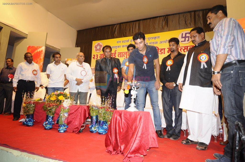 Vijender Singh flags off 23rd Vasai Kala KridaMahotsav 2012 in mumbai on 26th Dec 2012