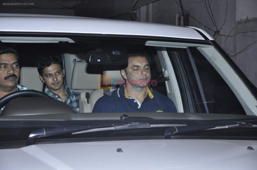 Sohail Khan at Salman's private dinner at home in Bandra, Mumbai on 26th Dec 2012