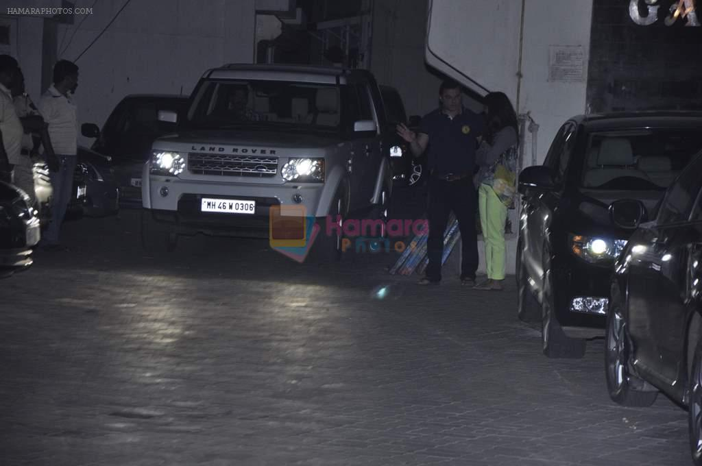 at Salman's private dinner at home in Bandra, Mumbai on 26th Dec 2012
