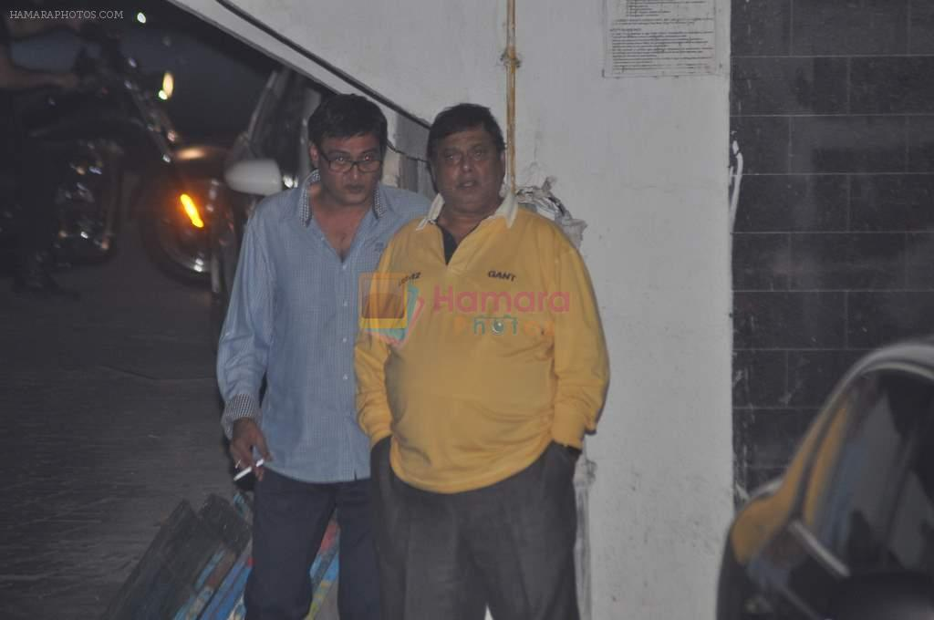 David Dhawan at Salman's private dinner at home in Bandra, Mumbai on 26th Dec 2012
