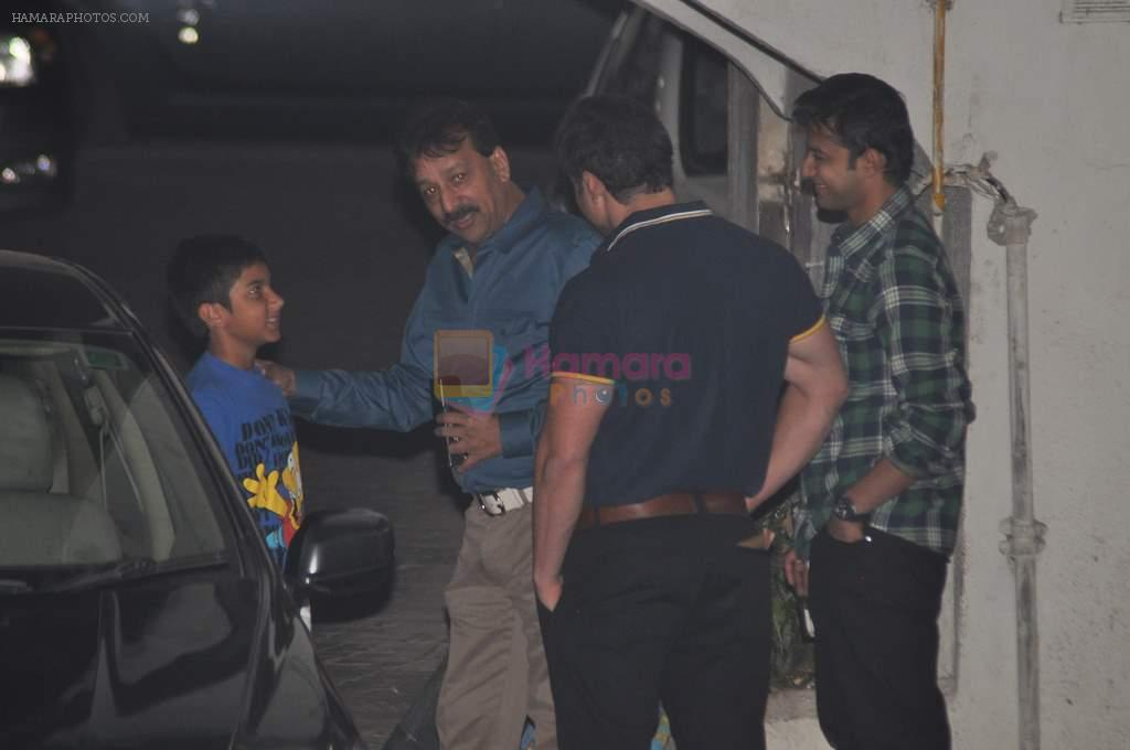 Baba Siddique at Salman's private dinner at home in Bandra, Mumbai on 26th Dec 2012