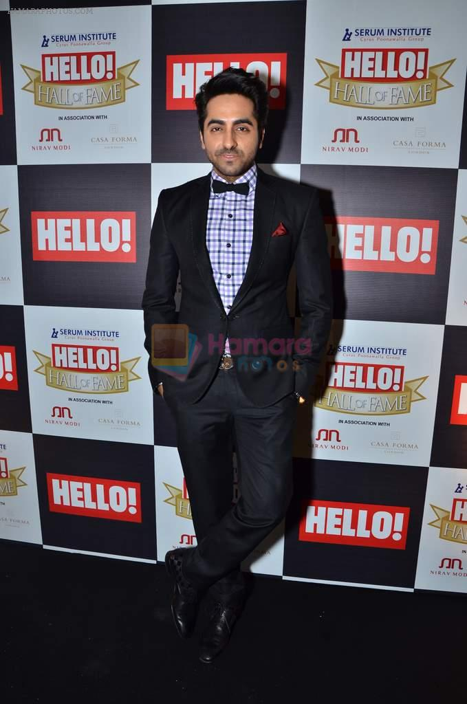 Ayushman Khurana at red carpet of Hello Hall of Fame Awards in Mumbai on 27th Dec 2012