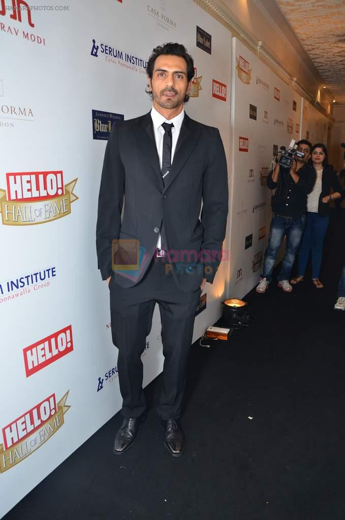Arjun Rampal at red carpet of Hello Hall of Fame Awards in Mumbai on 27th Dec 2012