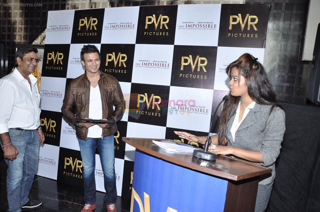Vivek Oberoi at The Impossible film press meet in PVR, Mumbai on 27th Dec 2012