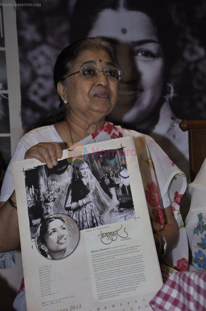 at Lata Mangeshkar calendar launch in Peddar Road, Mumbai on 27th Dec 2012