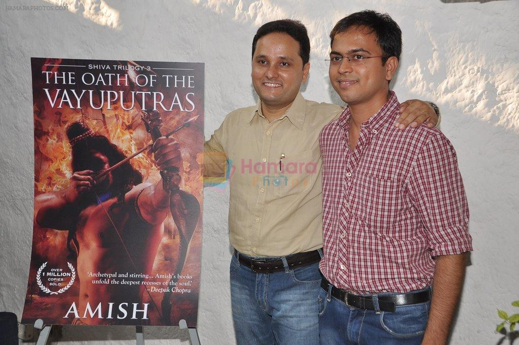 at Karan Johar launches the Cover of Amish's eagerly anticipated 3rd book in the Shiva Trilogy, The Oath of the Vayuputras in Mumbai on 27th Dec 2012