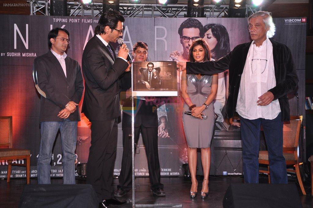 Arjun Rampal, Cyrus Broacha, Chitrangada Singh, Sudhir Mishra at Inkaar calendar launch in Bandra, Mumbai on 27th Dec 2012