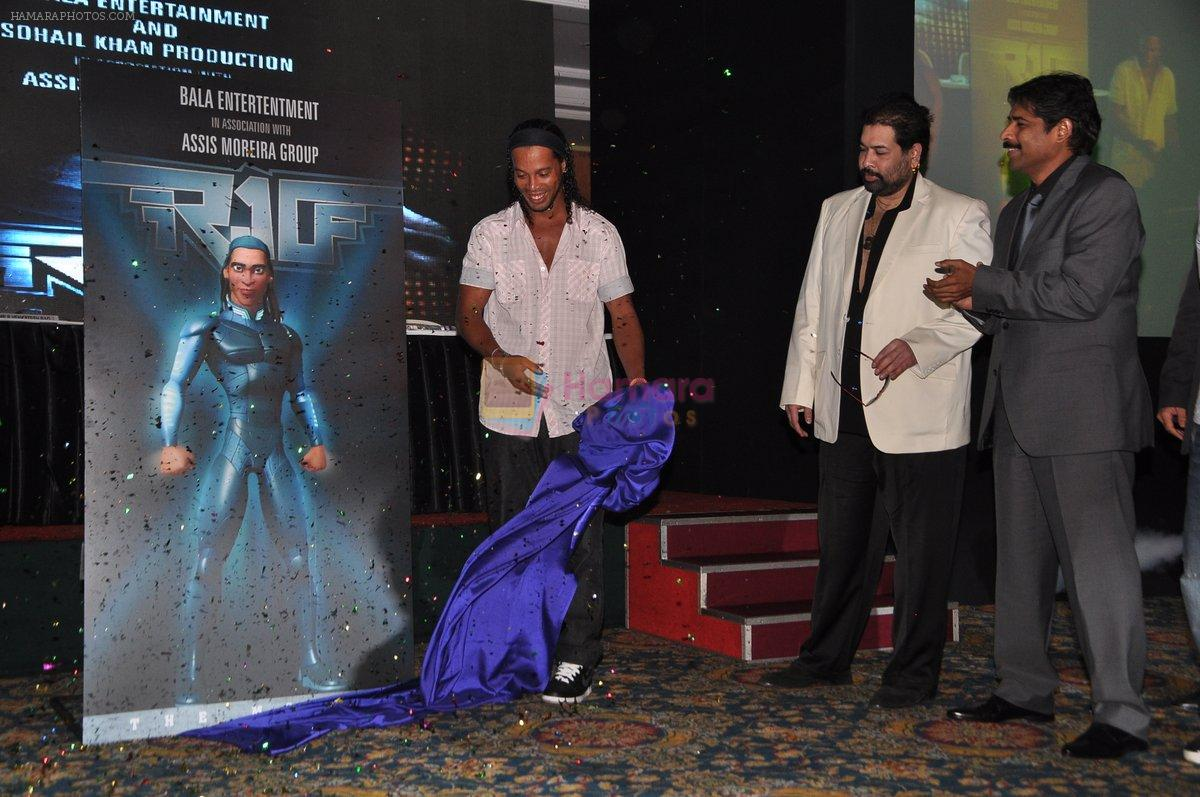 Ronaldinho unveils Balaji entertainment's R10 movie in Pune, Mumbai on 28th Dec 2012