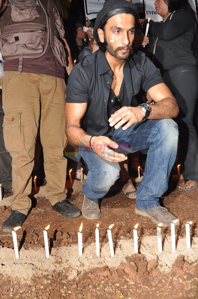 Ranveer Singh at the peace march for the Delhi victim in Mumbai on 29th Dec 2012
