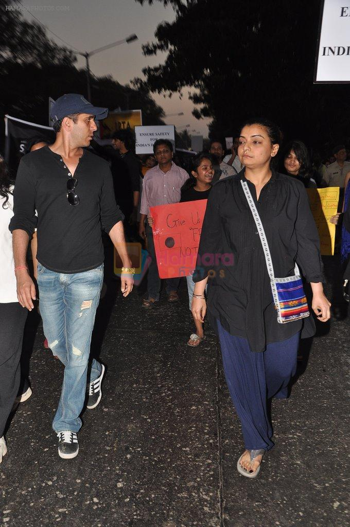 Vaibhavi Merchant at the peace march for the Delhi victim in Mumbai on 29th Dec 2012