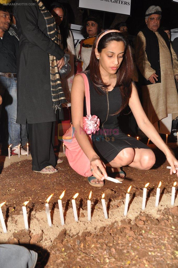 Shweta Pandit at the peace march for the Delhi victim in Mumbai on 29th Dec 2012