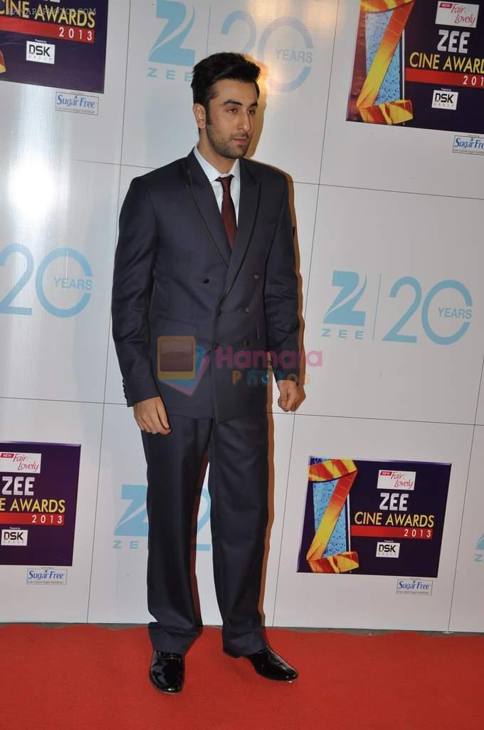 Ranbir Kapoor at Zee Awards red carpet in Mumbai on 6th Jan 2013