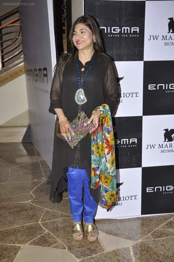 Alka Yagnik at Relaunch of Enigma hosted by Krishika Lulla in J W Marriott, Mumbai on 11th Jan 2013