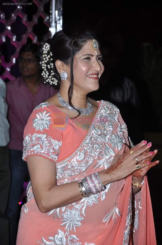Kanchan Adhikari at Ravi and Rubaina's wedding reception in Taj Land's End, Mumbai on 18th Jan 2013