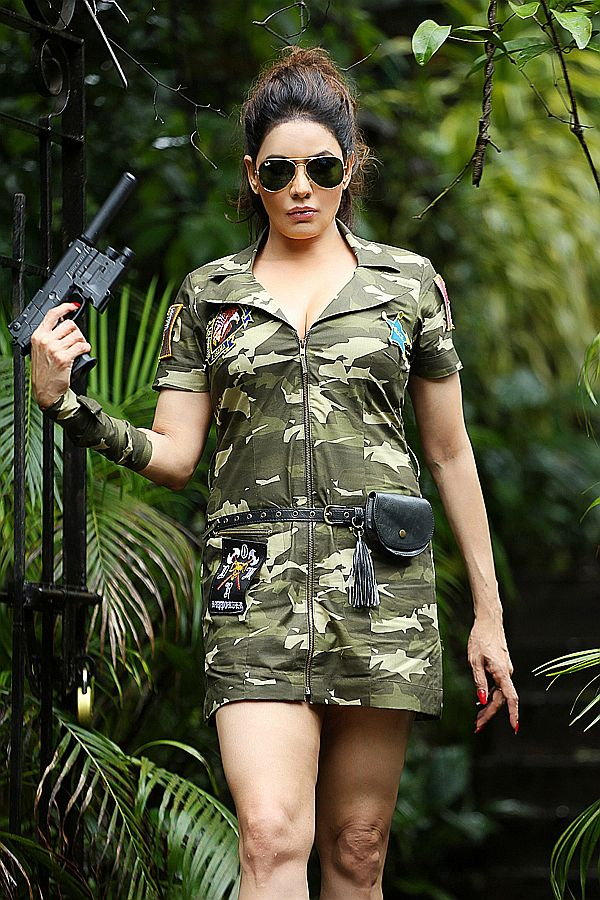 Poonam Jhawar in an Army Officer attire
