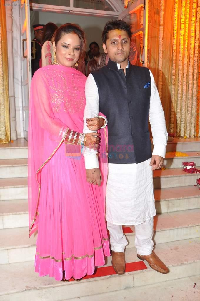 Udita Goswami, Mohit Suri at Udita Goswami weds Mohit Suri in Isckon, Mumbai on 29th Jan 2013