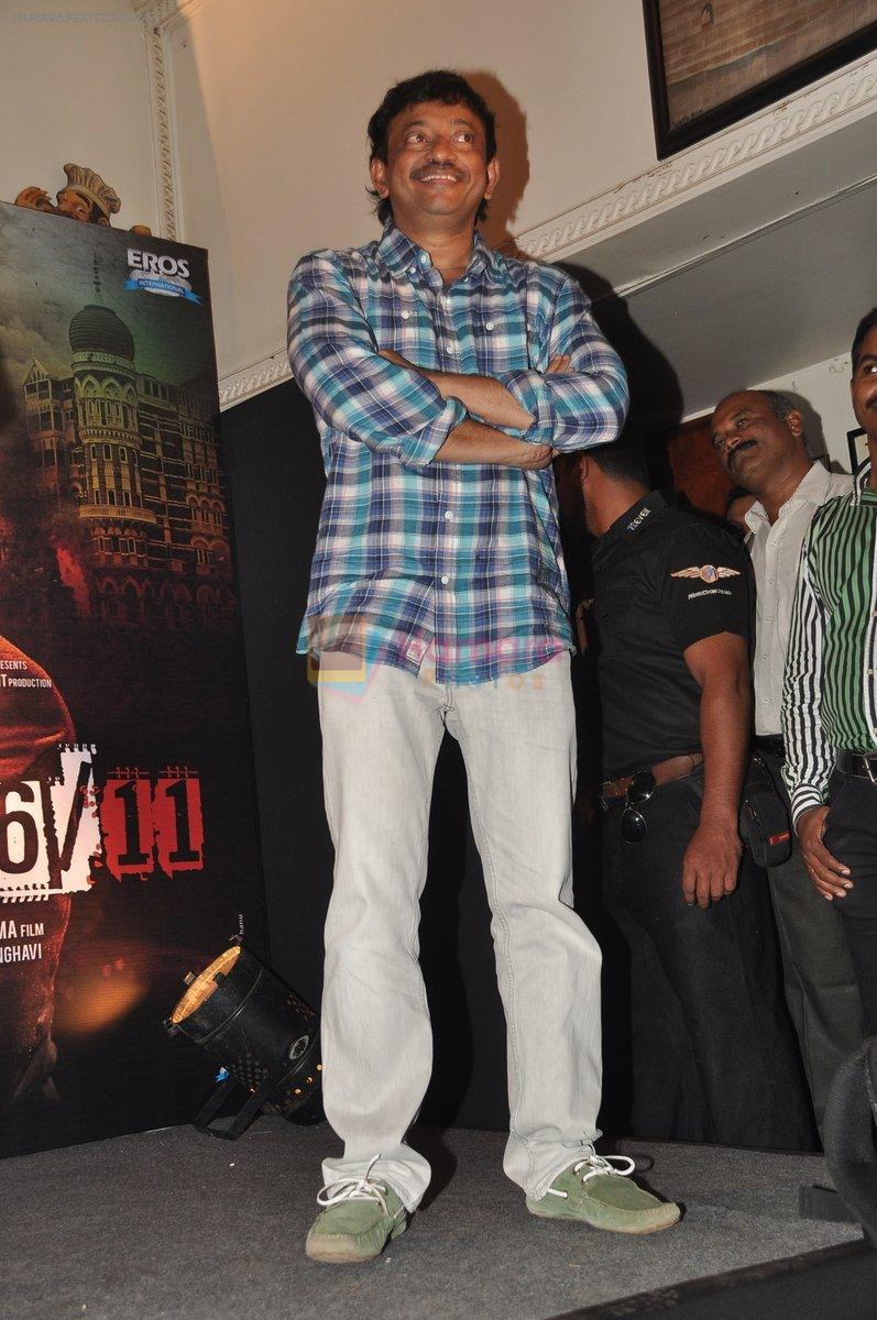 Ram Gopal Varma at the Audio release of The Attacks Of 26-11 in Leopold, Mumbai on 11th Feb 2013