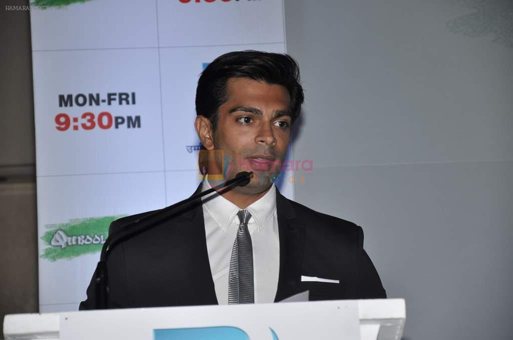 Karan Singh Grover at the Press conference of ZEE TV's serial Qubool Hain in Westin Hotel, Mumbai on 14th Feb 2013