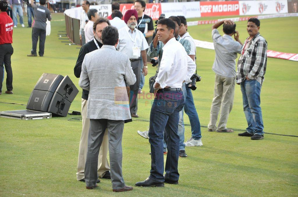 Rahul Dravid at UCL match in Mumbai on 23rd Feb 2013
