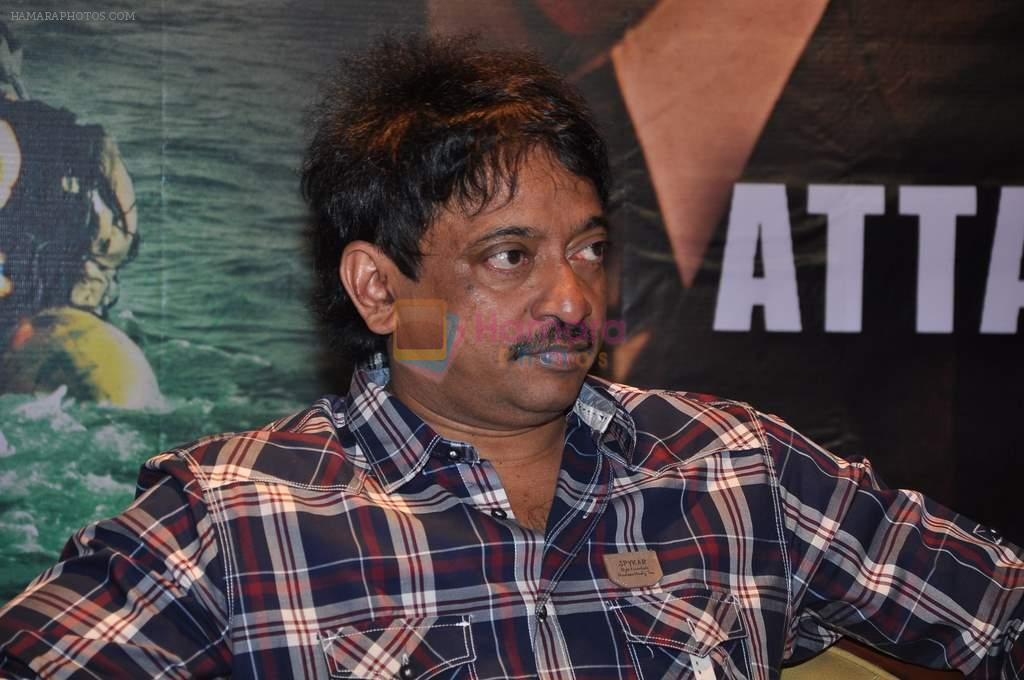 Ram Gopal Varma introduces Ajmal Kasab aka Sanjeev Jaiswal of 26-11 film in Andheri, Mumbai on 6th March 2013