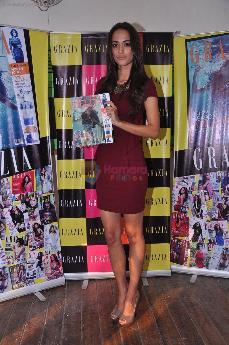 Angela Johnson unveils Grazia special cover issue in Olive, Mumbai on 6th March 2013