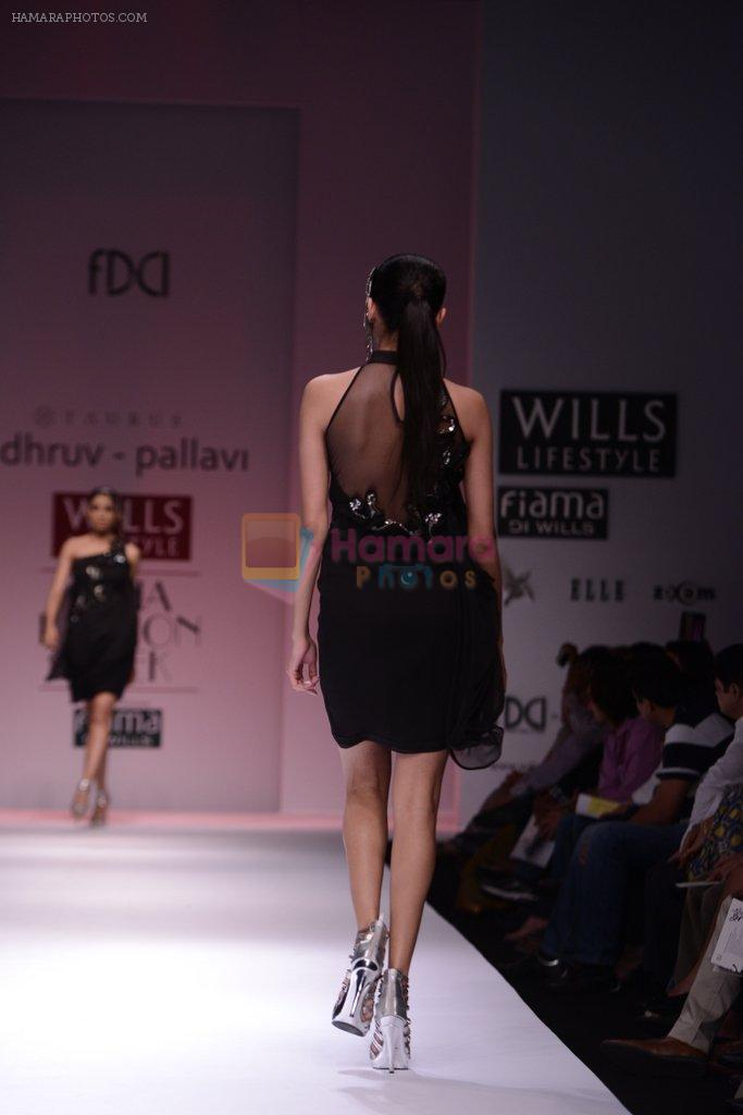 Model walks for Chandrani, Mrinalini, Dhruv-Pallavi Show at Wills Fashion Week 2013 Day 5 on 17th March