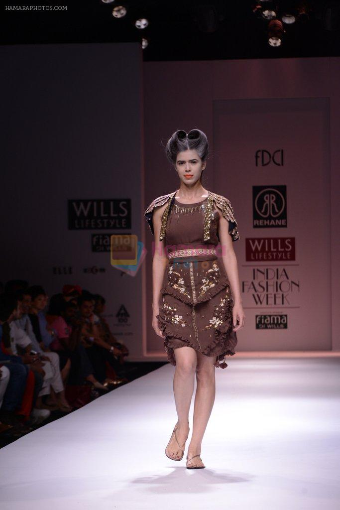 Model walks the ramp for Rehane Show at Wills Lifestyle India Fashion Week 2013 Day 5 in Mumbai on 17th March 2013