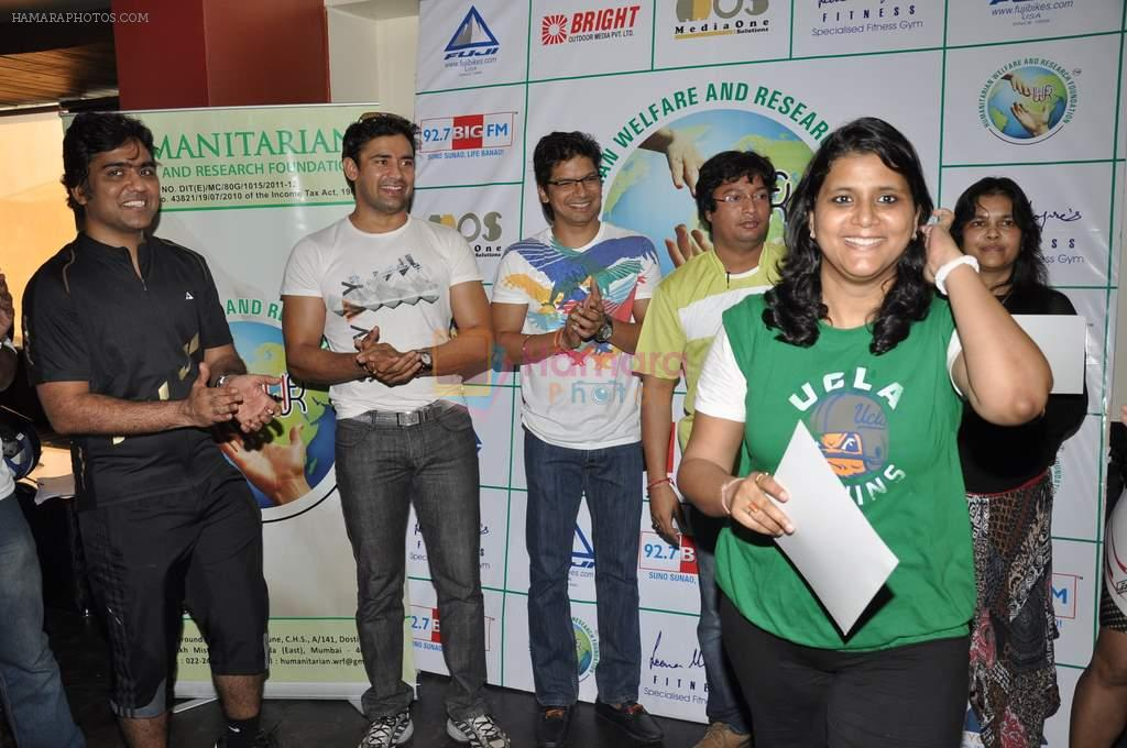 Shaan supports Cyclozeal organised by Humanitarian Welfare and research Centre in Leena Mogre Gym, Mumbai on 17th March 2013